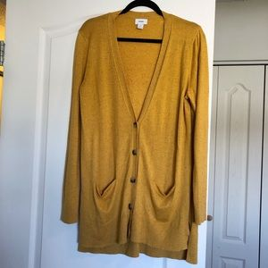 🛍3/$20 - Old Navy Mustard Boyfriend Cardigan